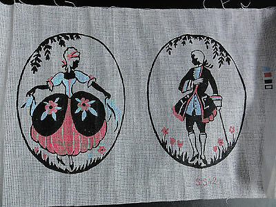 Tapestry Canvas, A pair of Silhouettes. New.
