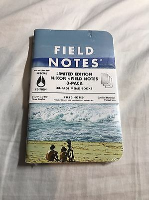 Field Notes Nixon Limited Edition Special Edition Beach New Sealed Memo Notebook