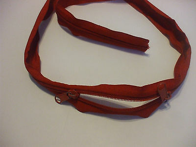 43.5 Inch Red Nylon Zipper With 2 Metal Sliders
