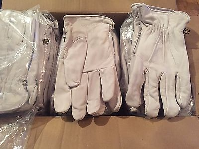 2 pairs premium quality natural cowhide lined work/gardening gloves 3 sizes