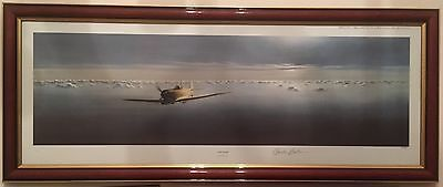 """Fine Art, A Signed Ltd addition Print. """"The Lone Spitfire"""" By Gerald Coulson."""