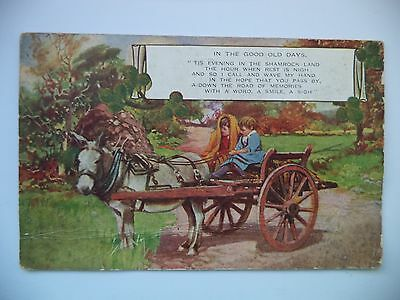 In The Good Old Days - Poem & Picture Printed Postcard - 1945 - Eire - Posted