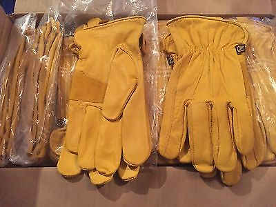 3 pairs premium quality natural goatskin  work/gardening gloves 2 sizes