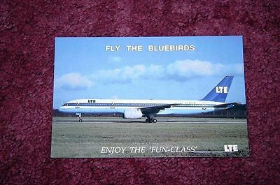 Lte Boeing 757 Airline Issue Postcard