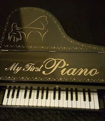 My first Grand Piano with bench/electric/music/learning/children /Real keys