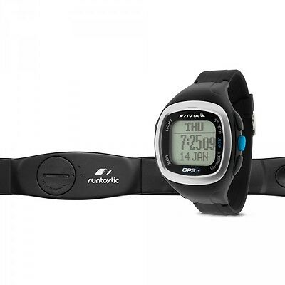 Runtastic GPS Watch Black+Heart Rate Monitor Chest Strap