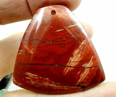 43*44MM Natural picture  agate pendant Gemstone Loose Beads A83