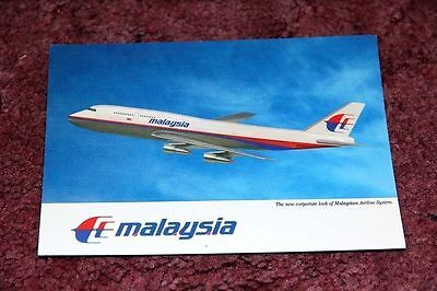 Malaysia Airlines Boeing 747-300 Airline Issue Postcard