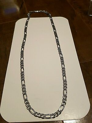 "92.5 Sterling Silver 18"" Mens Chain - 5mm Thick"