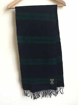 Johnstons of Elgin Lambswool scarf in Black Watch Colours