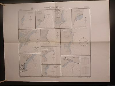 WWII Era Nautical Chart 2066 Southeast Siberia Anchorages The Gulf Of Tartary