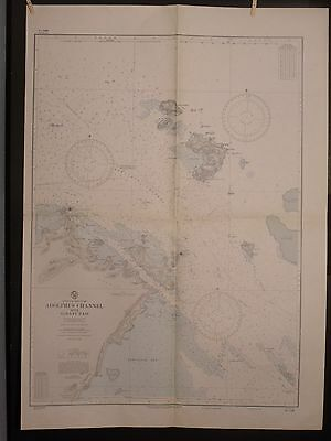 WWII Era Chart 3469 East AUSTRALIA Adolphus Channel + Albany Pass NEWCASTLE BAY