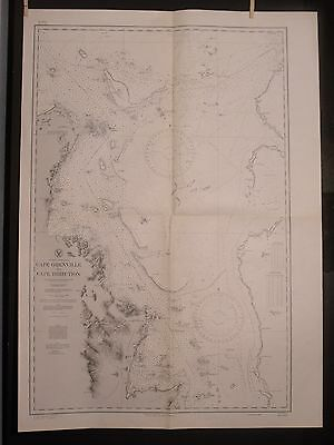 WWII Era Nautical Chart 3463 East AUSTRALIA Cape Grenville Cape Direction 1ST ED