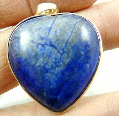 33*32MM Natural picture lapis lazuli  agate pendant Gemstone Loose Beads A95