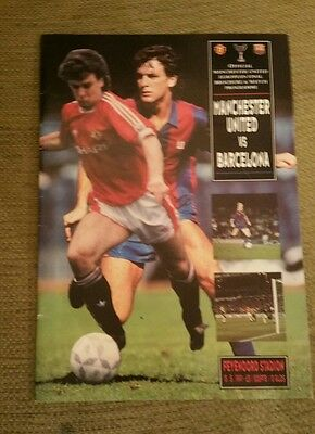 1991 Cup Winners Cup Final Programme Manchester United V Fc Barcelona
