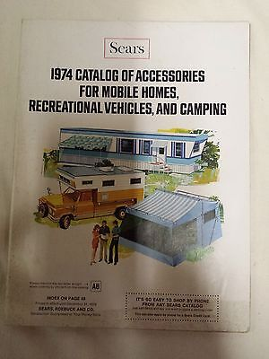 Vintage Sears Roebuck & Company 1974 Mobile Home Rv Camping Accessory Catalog