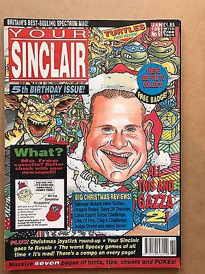 Your Sinclair job lot - 5 issues, 61, 62, 63, 65, 66 - ZX Spectrum