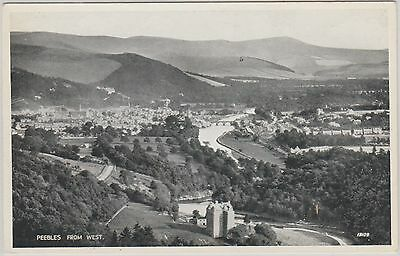 Peebles - From West - Scotland  -Real Photo Early Postcard