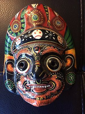 Hand Painted imported mask hard fabric/cast? type material from india?