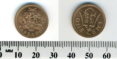 Barbados 1980 - 1 Cent Bronze Coin - Broken Trident