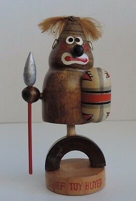 Vintage Bobble Head Tribal Chief Toy Buyer .