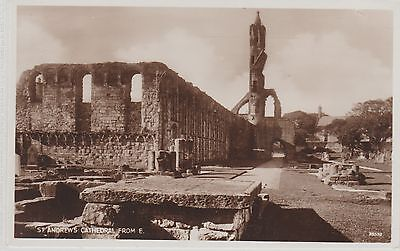 St Andrews - Cathedral From East - Fife -Real Photo Early Postcard