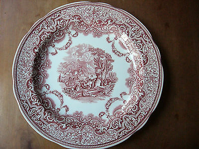 Spode Archive Collection Victorian Series Continental Views Red