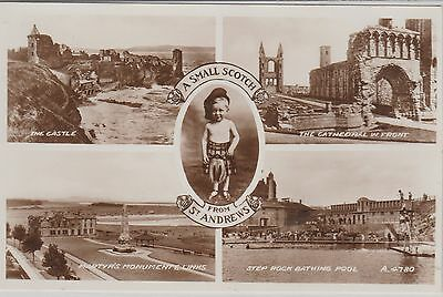 St Andrews - A Small Scotch - Multiview - Fife -Real Photo Early Postcard