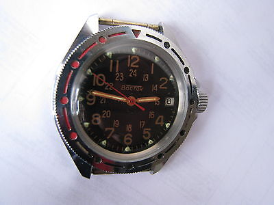 USSR watch cal.2414  Wostok military commander  working