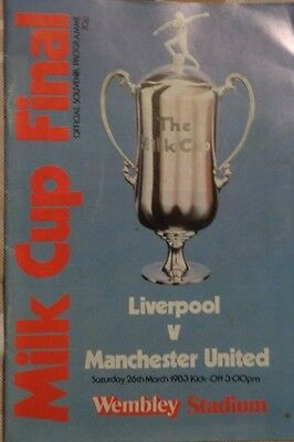 1982-83 League Cup Final Liverpool V Manchester United