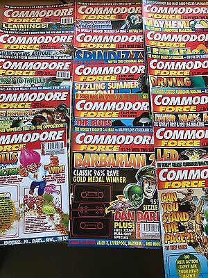 Commodore Force complete set 16 Issues. (C64, Commodore 64)