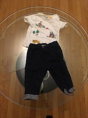 John Lewis Baby Boy 3-6months Cheeky Monkey Outfit