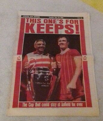 601) Liverpool echo 1985 European cup final souvenir special