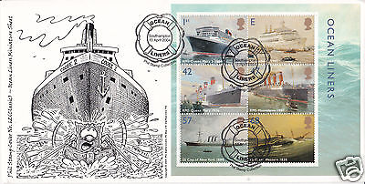 2004 Ocean Liners M/S - Phil Stamp Off - B&W Version - Only 25 exist !