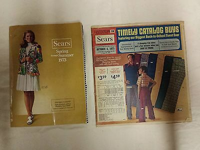 Vintage 1973 Sears Roebuck & Company Spring Summer And Sale Catalog Lot