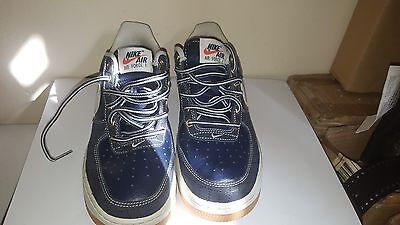 Nike Air Force 1 Shoes Size 5Y Blue/White/Tan