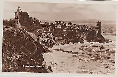 St Andrews - Castle - Fife -  Real Photo Early Postcard