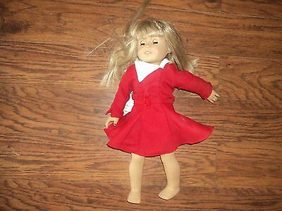 2008 AMERICAN GIRL DOLL w/ RED DRESS