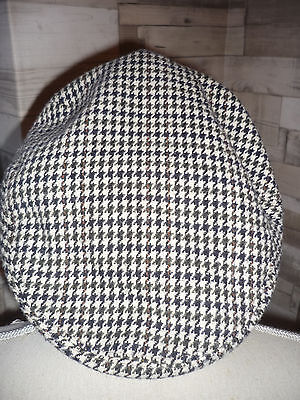 Vintage Dunn & Co Tweed Flat Cap The County 56cm Multi Check across