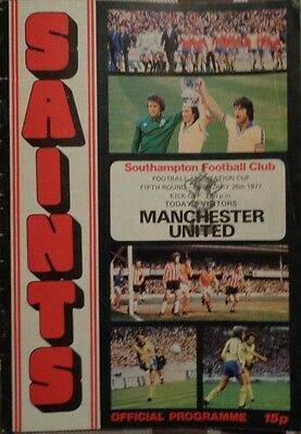 1976-77 F.A CUP 5th ROUND SOUTHAMPTON V MANCHESTER UTD