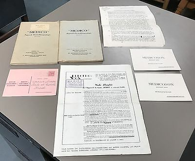 Lot of 2 Vintage Foreign Quack Medicine Manuals And Ephemera Papers In French