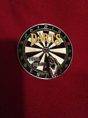 Darts Belt Buckle  New In Original Packet  Unusual  Collectable