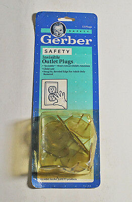 1991 Gerber Plastic Invisible Outlet Plugs Covers Baby Child Protectors