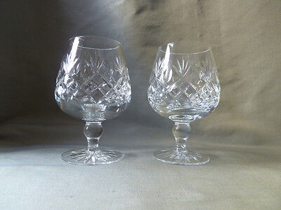 2 vintage brandy glasses, probably by Royal Brierley, not signed, VGC