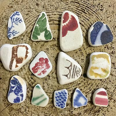 Genuine Surf Tumbled  Sea pottery shards Jewelry Quality