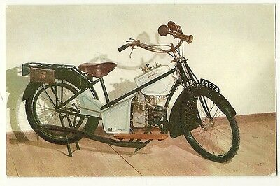 Motorcycles - a photographic postcard of a 1914 Douglas Motor Cycle
