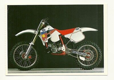 KTM 250 MX Motor Cycle - a larger format, photographic postcard