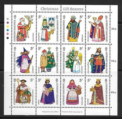 Guernsey 1985 Christmas. Gift-Bearers Stamp Sheetlet Mh