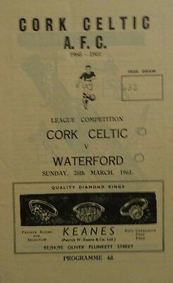 1960-61 League Of Ireland Cork Celtic V Waterford