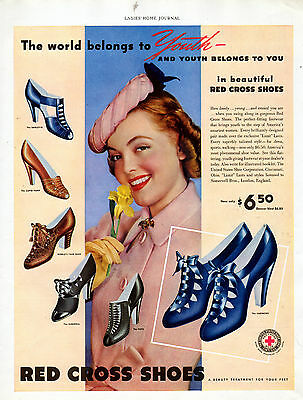1939 Red Cross Shoes ad -The Most Popular Brand in the 30's -$6.50--[-615